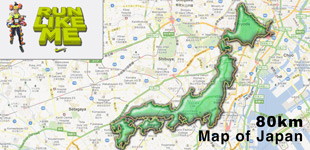 The Art of Running: 80km Map of Japan